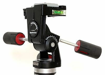 """Fluid drag"" UPGRADED Manfrotto #029 Mk2 Medium Duty Professional 3-Way Head"