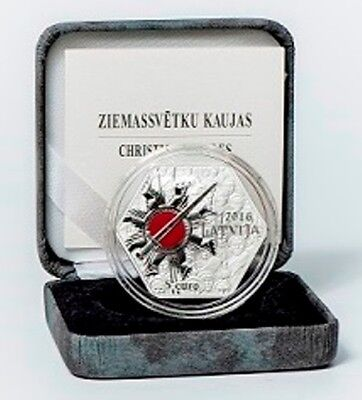 NEW Latvia 5 EURO 2016 Silver coin 100 years of the Christmas Battles
