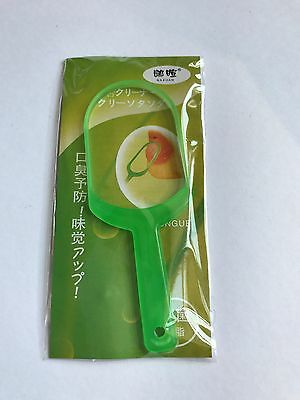 GREEN TONGUE SCRAPER Oral Hygiene Care Bad Breath Freshener Cleaner Brush Tool