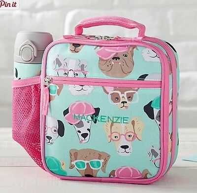 New Pottery Barn Kids Cool Dogs Lunch Box Aqua