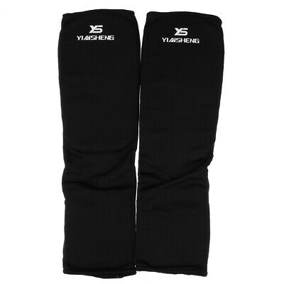 Shin & Instep Guard - Black/White (MMA, Taekwondo, Karate, Martial Arts)