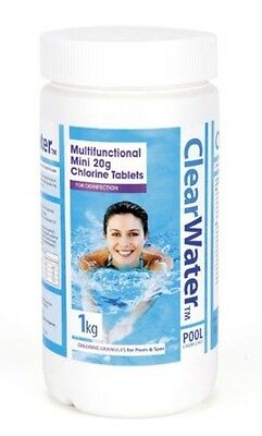 Clearwater Spa Pool Treatments Maintenance 1kg Tablets 20g
