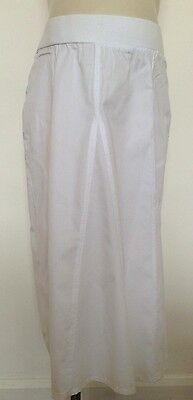NEW Mothercare Maternity White Cotton Summer Skirt Size 10,12,14,16,18