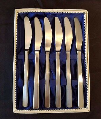 Mid century Carl Mertens set of 6 stainless steel knives - Sparta
