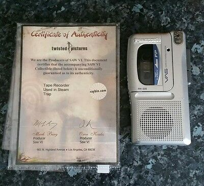 Saw - Steam Room Tape Recorder Prop w/COA twisted pictures