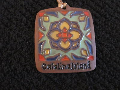 CATALINA ISLAND TILE 3 x 2.75 INCHES BRIGHT HISTORICAL DECORATIVE PAVER #A