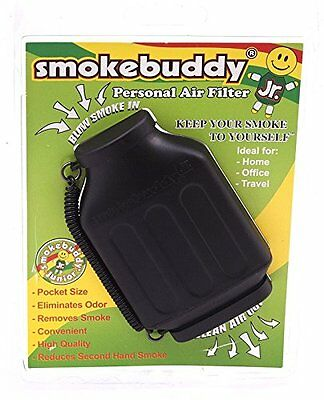 Smoke Buddy Personal Air Purifier Cleaner Filter Removes Odor -Black New