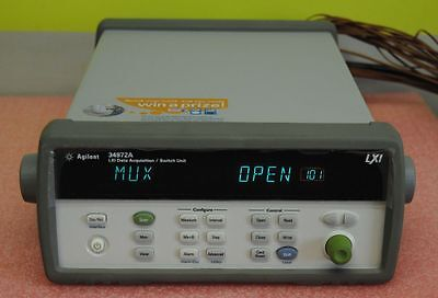Agilent 34972A LXI Data Acquisition Unit with 2 34901A 20 channel multiplexers