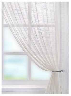 Lustre Ivory Voile Curtain Panels