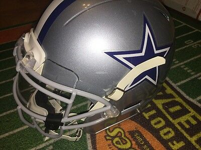 Dallas Cowboys Game Used Worn Helmet 2012 NFL Heads up Decal Xenith Visor Rare