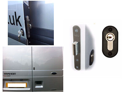 Ford Transit 2001-2013 Rear Van Security Deadlock Kit With Hook Lock