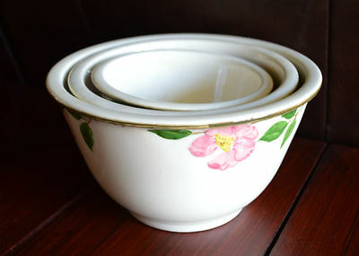 Franciscan Desert Rose Nesting Mixing Bowls - Set of 3