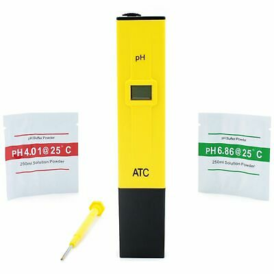 pH Meter Tester Calibration Pen 4 Aquarium Fish Tank Septic & Pond Pump Bubbles