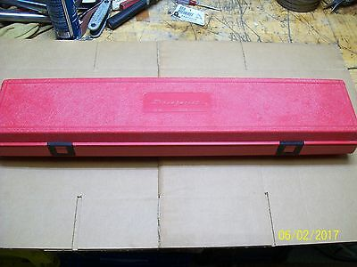 Snap On Tools Torque Wrench Red Plastic Carrying Case Only , Pb 39