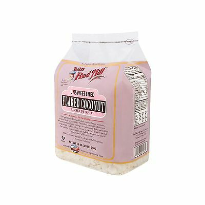 Bob's Red Mill Unsweetened Flaked Coconut 12 Ounce (3/4 LB ) 340g - NEW