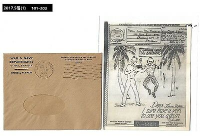 AAA,V-mail,Airgraph,Thematic Philately Materials,Palm Tree,prisoner of war,POW