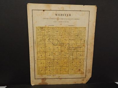 Iowa Madison County Map Webster Township  1912  Y12#09