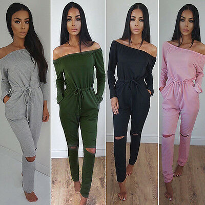 UK Womens Tracksuit Hoodies Sweatshirt Pants Sets Lounge Wear Jumpsuit Playsuit