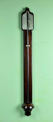 Early And Rare Georgian Walnut Stick Barometer