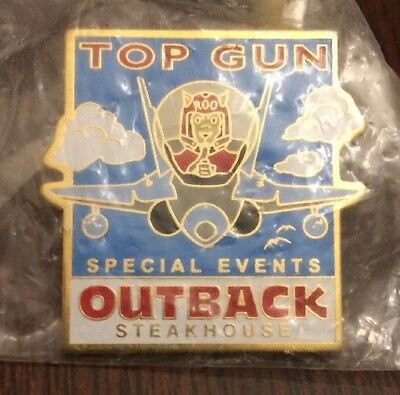 Top Gun Outback Steakhouse Pin Kangaroo Flying Airplane Special Events Employee