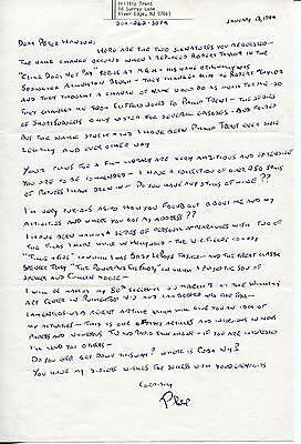 Philip Trent Actor In Gone With The Wind & Buck Rogers Signed Letter Autograph