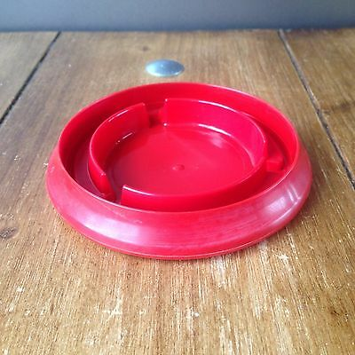 RARE RED c1963-67 BOC SPARKLETS DRIP TRAY 4 STAINLESS STEEL MK II 2 SODA SYPHON