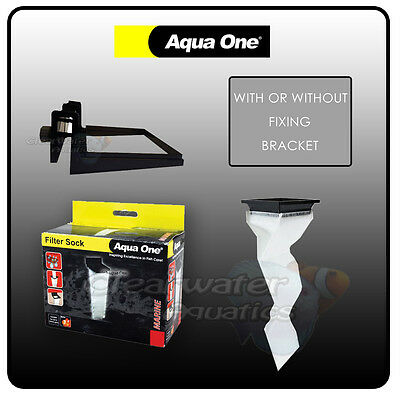 Aquaone Filter Sock Aquareef Sump Bracket 150 Micron 10Mm Glass Tank Reef Coral