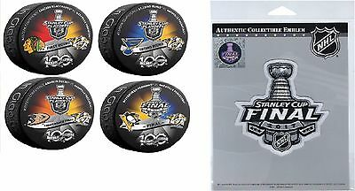2017 Stanley Cup Final Patch & Pucks Predators 1St 2Nd Rounds Western Conference