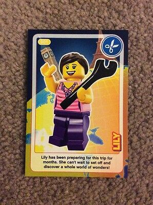 Lego Create The World Individual Card. Number 1: Lily. Sainsbury's.