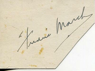 Fredric March Silent Movie Actor In Dr Jekyll & Mr Hyde Signed Page Autograph