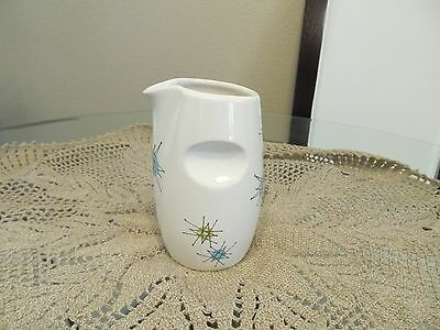 "Rare Franciscan ~ Starburst Pattern ~ Open Syrup Pitcher 5.1/2"" Tall"