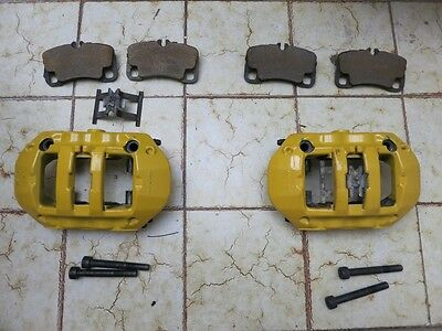PORSCHE 997 996 TURBO PCCB REAR CALIPERS with pads  209401061A 209401051A