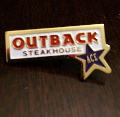 Outback Steakhouse Ace Pin Purple Star Employee Flare New