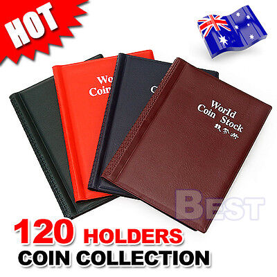 120 Coin Holders Collection Storage Money Penny Pockets Book Album Collecting