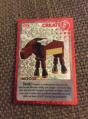 Lego Create The World Individual Card. Number 15: Moose. Sainsbury's.