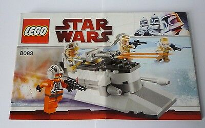 Lego Star Wars 8083 Rebel Trooper Battle Pack Instructions Only - New