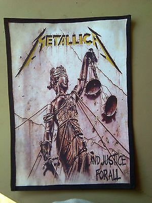 Metallica,..and Justice For All,sew On Sublimated Large Back Patch