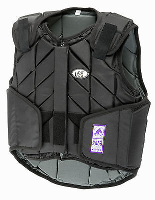 USG - eco-flexi adult horse riding body protector black all sizes