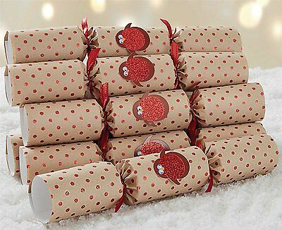 Hand Made Racing Robin Luxury Christmas Crackers