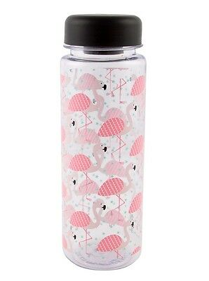Flamingo Water Bottle - Tropical, Summer, Hydrating, Clear, Drinks, Portable