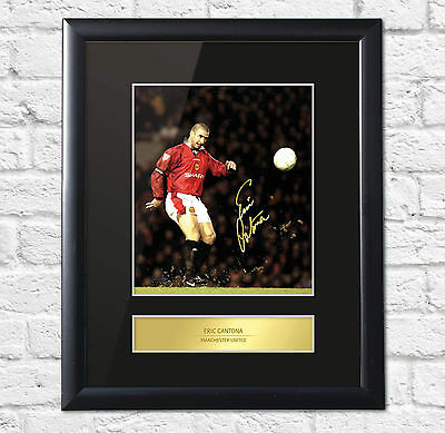 Eric Cantona Signed Mounted Photo Display Manchester United Framed