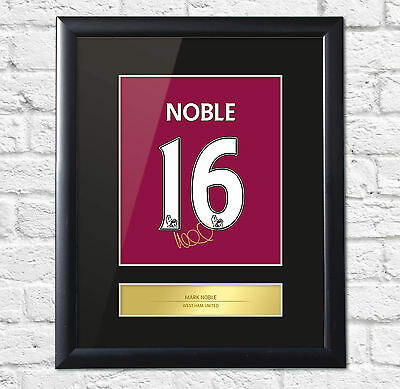 Mark Noble Signed Mounted Photo Display West Ham United Framed