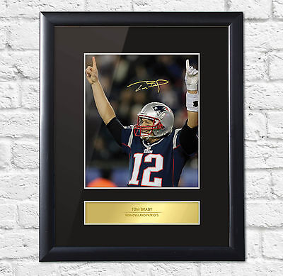 Tom Brady Signed Mounted Photo Display New England Patriots Frame