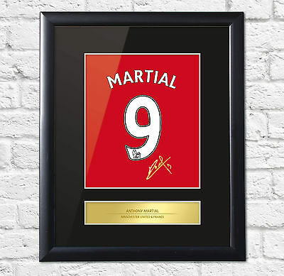 Anthony Martial Signed Mounted Photo Display Man United Framed