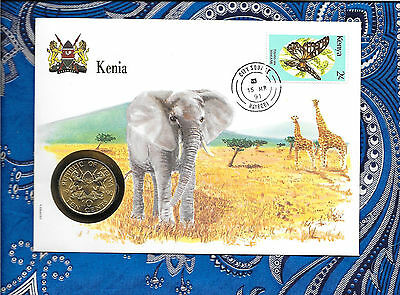 E Coins of All Nations Kenya 1990 10 Cents UNC