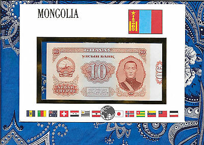 E Banknotes of All Nations Mongolia 1966  10 Tukrik P38a UNC Low serial 005652