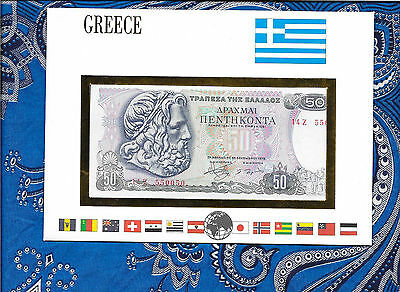 E Banknotes of All Nations Greece 1978  50 Drachmai P199a UNC prefix 14Z