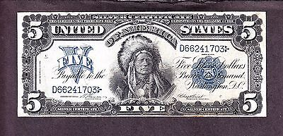 US 1899 $5 Chief Silver Certificate FR 273 VF-XF (-703)