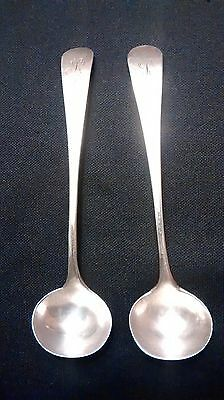 Sterling Silver Reid & Sons Condiment/Salt Spoons (circa 1820)