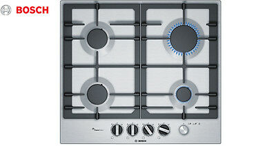 BOSCH PCP615M90E Brushed Steel Built-in Kitchen Gas Hob Brand New !!!